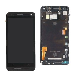 HTC One M7 ekranas su remeliu juodas